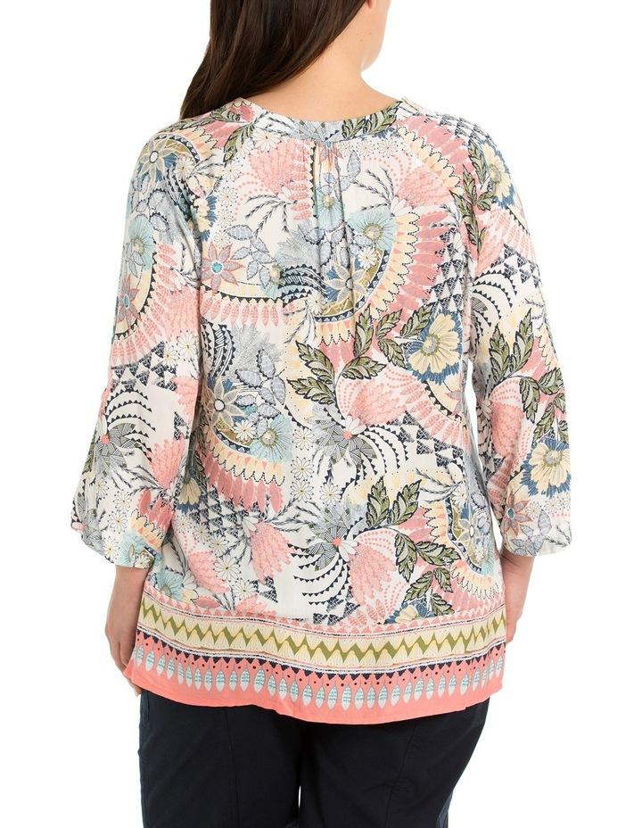 3/4 Sleeve Wildflower Print Shirt image 2