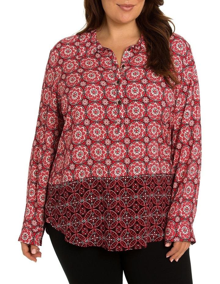 L/S Tile Spliced Shirt image 1