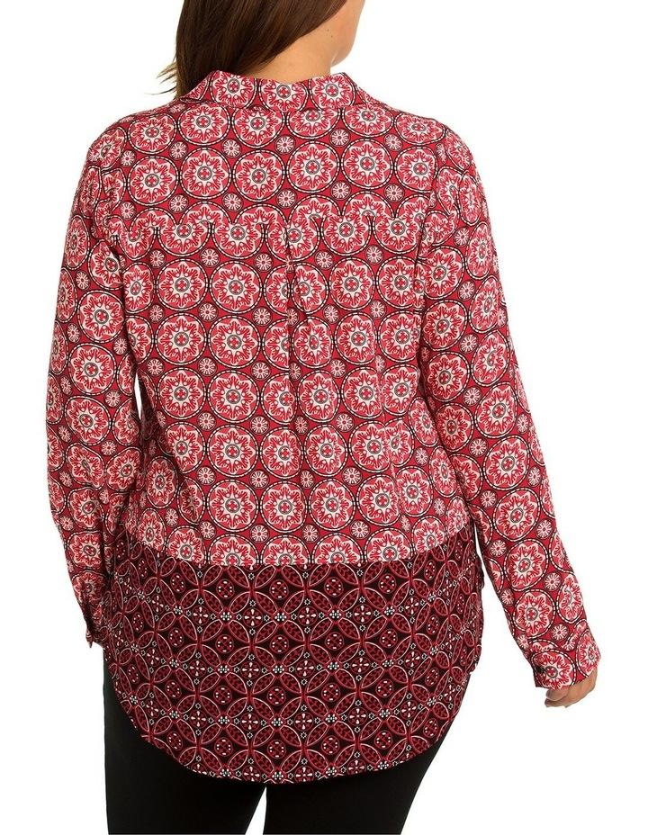 L/S Tile Spliced Shirt image 2