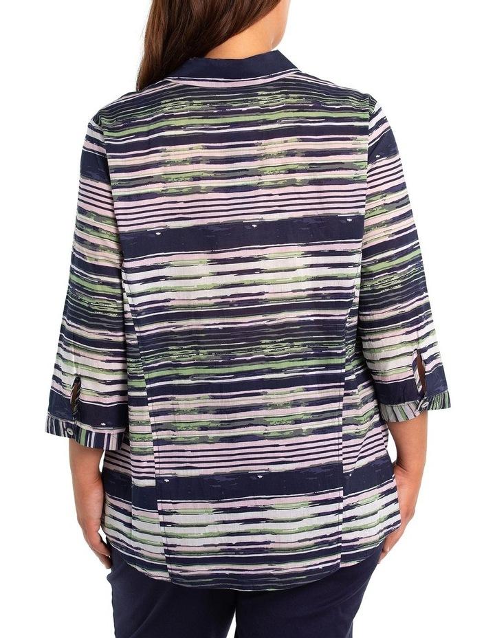 3/4 Sleeve Painted Stripe Shirt image 2