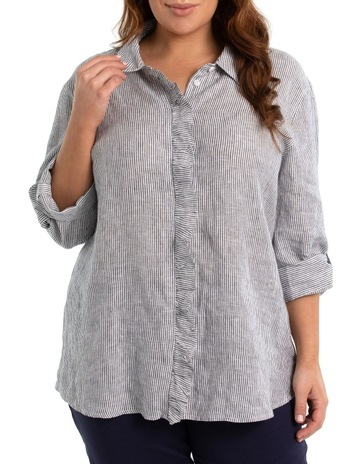 518fd2a8dd8480 Yarra Trail Woman3/4 Sleeve Ruffle Placket Shirt. Yarra Trail Woman 3/4  Sleeve Ruffle Placket Shirt