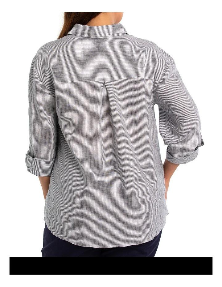 3/4 Sleeve Ruffle Placket Shirt image 2