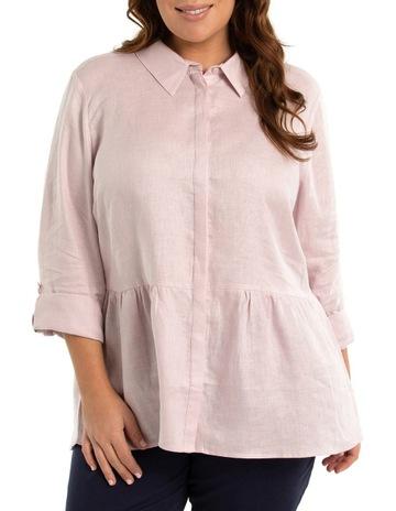 654c1c8e122a43 Yarra Trail WomanTab Sleeve Peplum Hem Shirt. Yarra Trail Woman Tab Sleeve  Peplum Hem Shirt