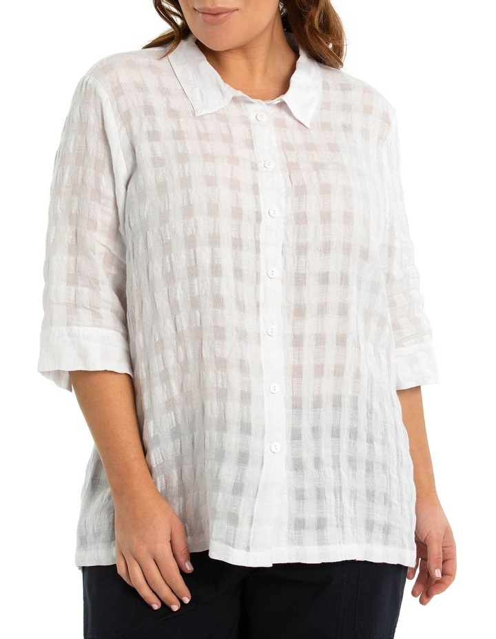 Textured Linen shirt image 1