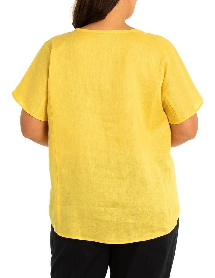 Short Sleeve Linen Paneled Shirt image 2