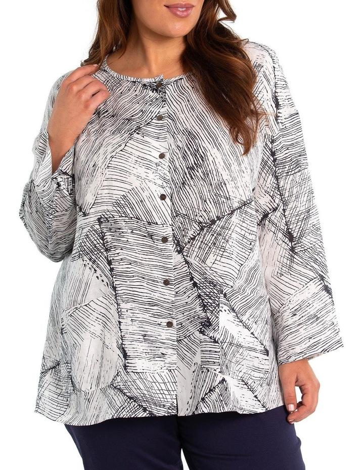 3/4 Sleeve Comb Print Shirt image 1