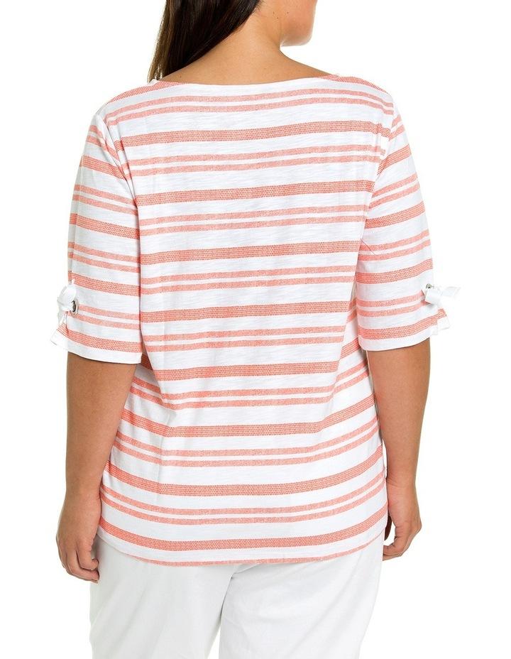 Dashed Stripe Print Tee image 2