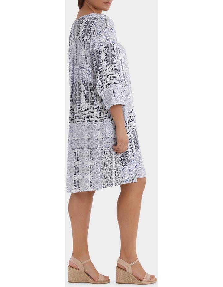 3/4 Sleeve Lisbon Print Dress image 2