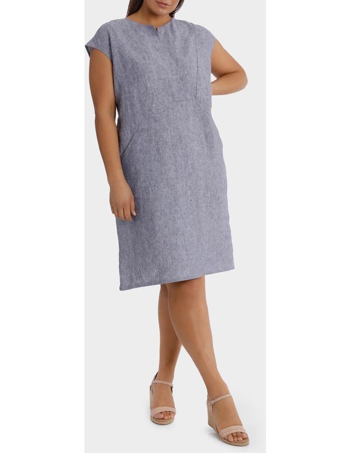 S/S Crossdye Linen Dress image 1