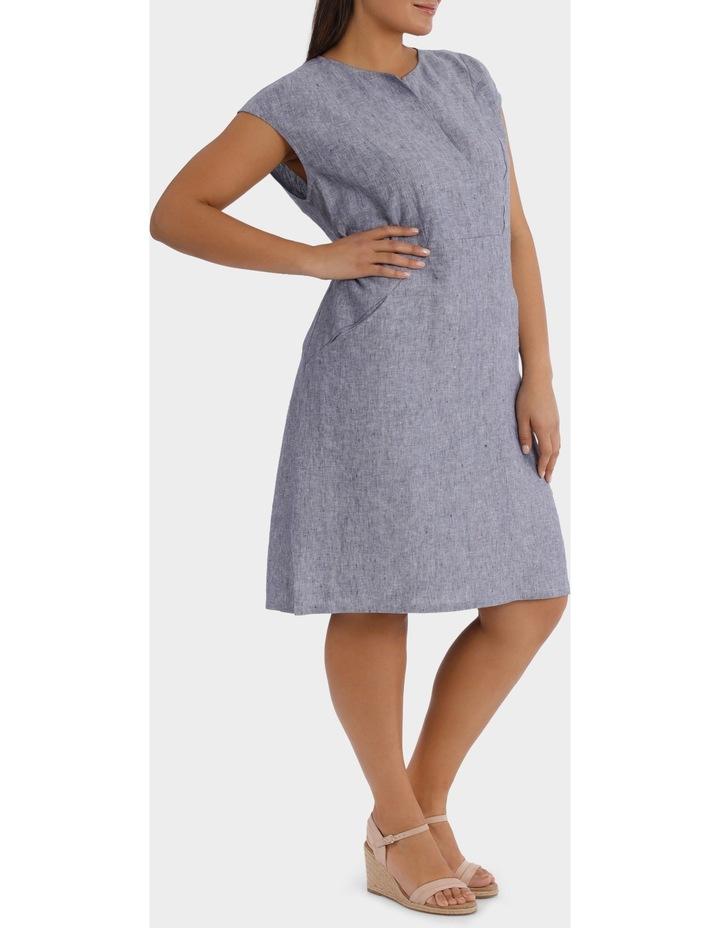 S/S Crossdye Linen Dress image 2
