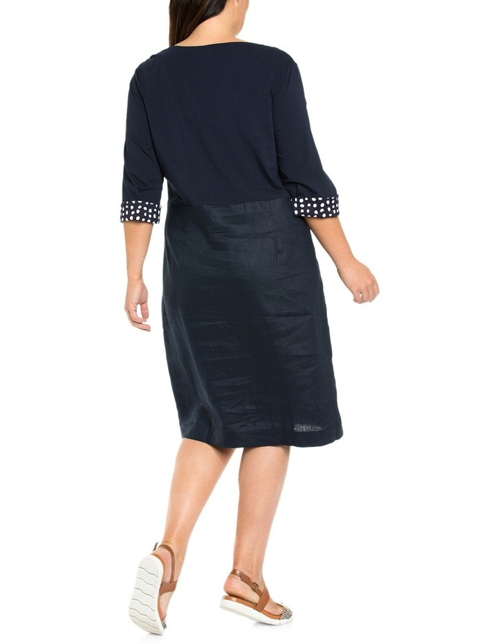 3/4 Sleeve Lace Up Front Dress image 2