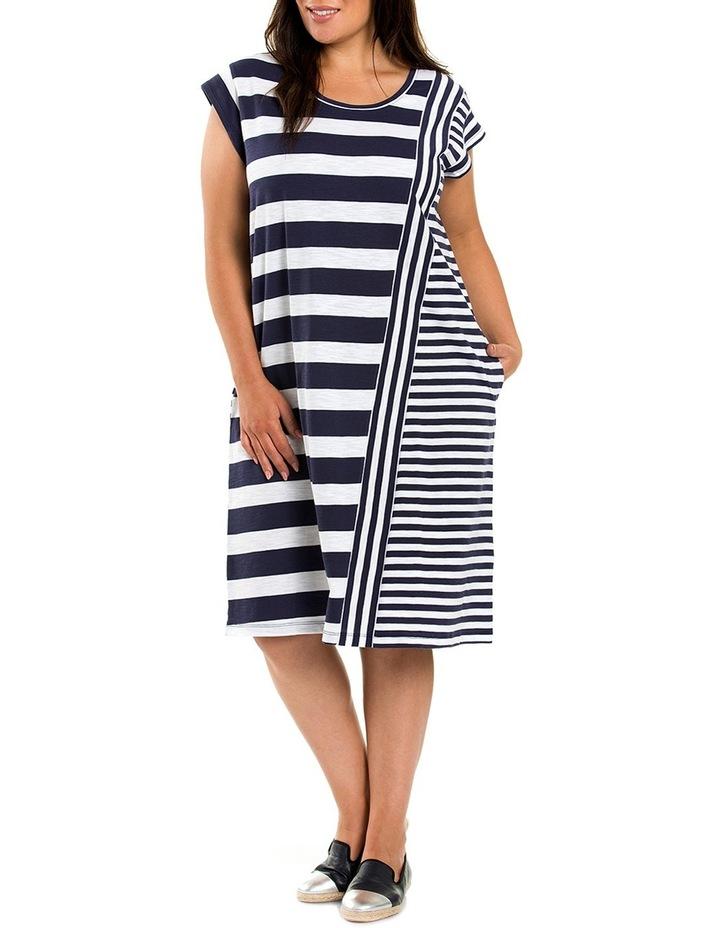 Stripe Panelled Dress image 1