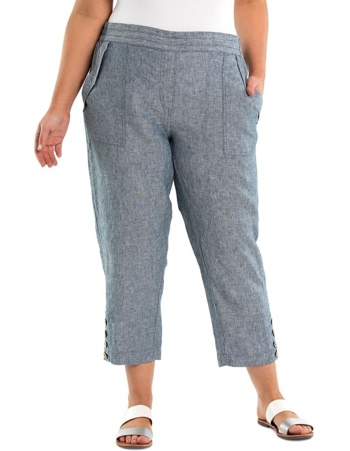Relaxed Crossdyed Linen Pant image 1