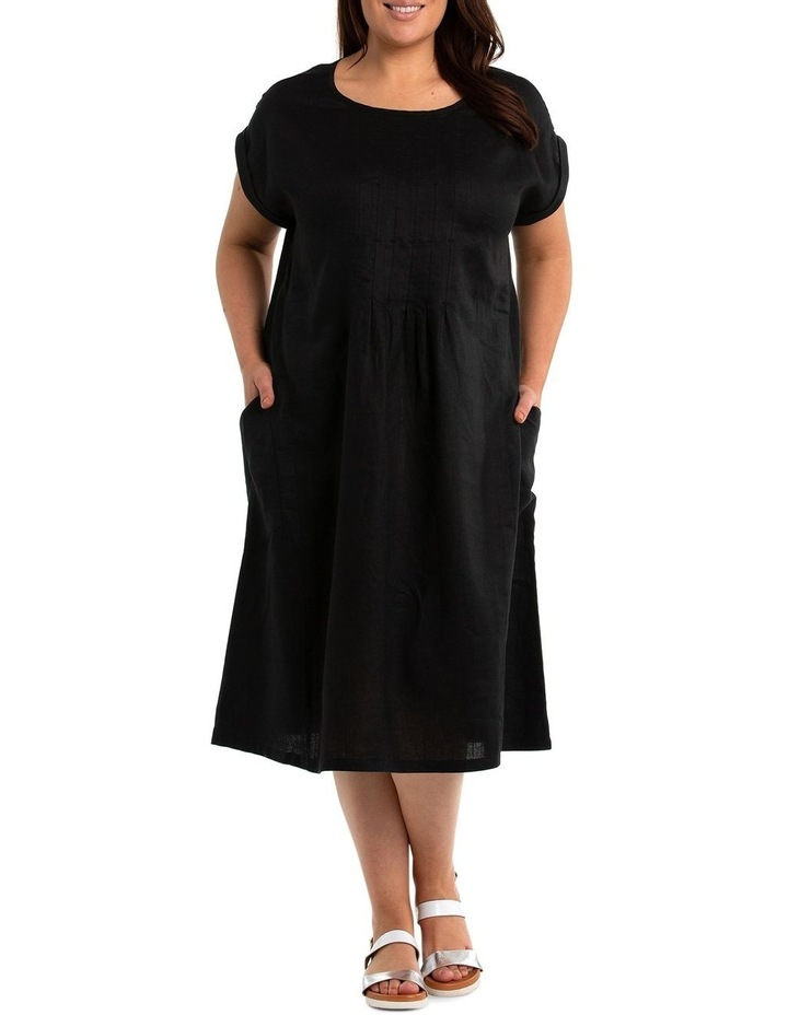 Contrast Stitch Linen Dress image 1