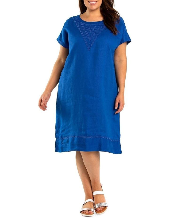 Stitch Detail Linen Dress image 1