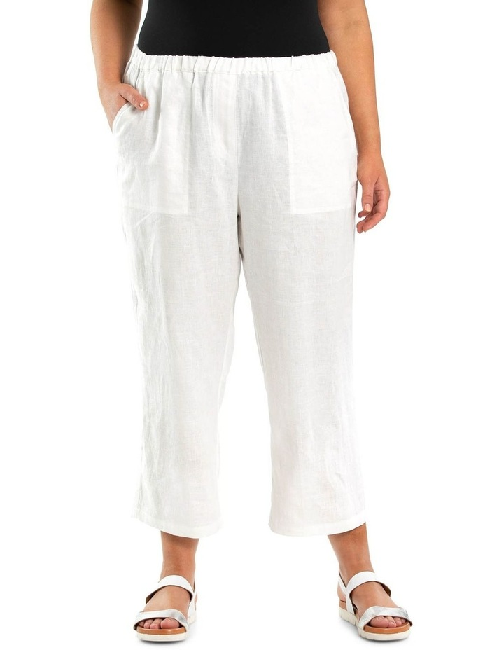 Washer Linen Cropped Pant image 1
