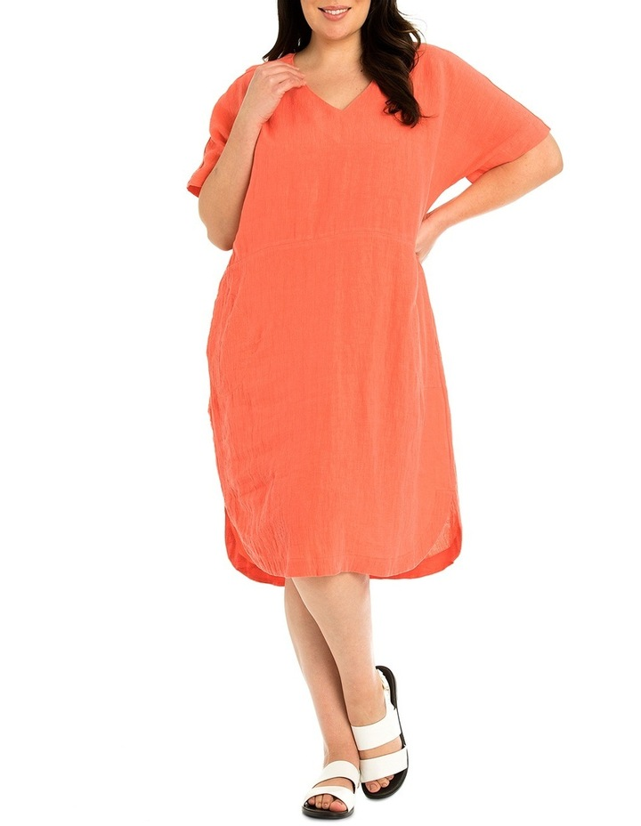 Short Sleeve Linen Dress image 1