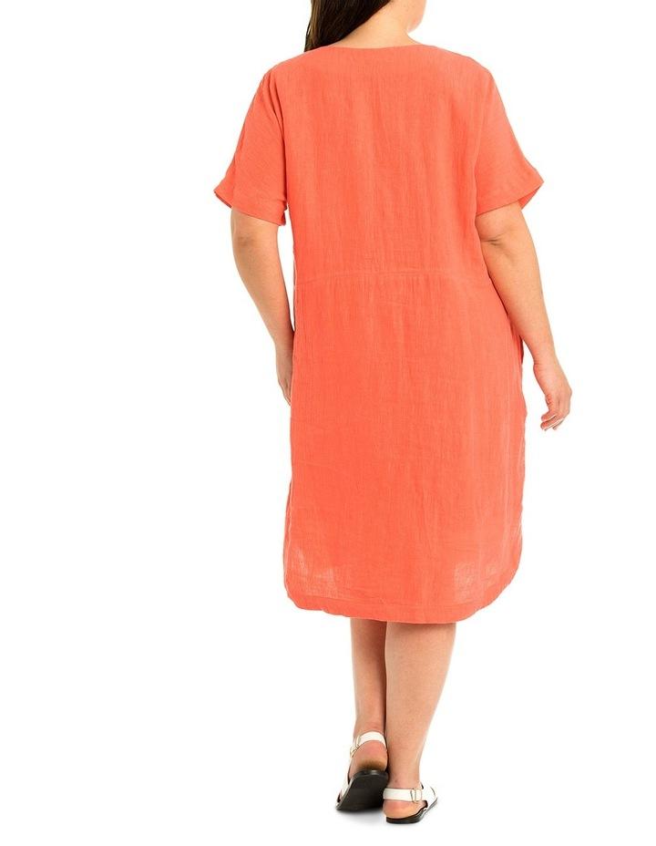 Short Sleeve Linen Dress image 2