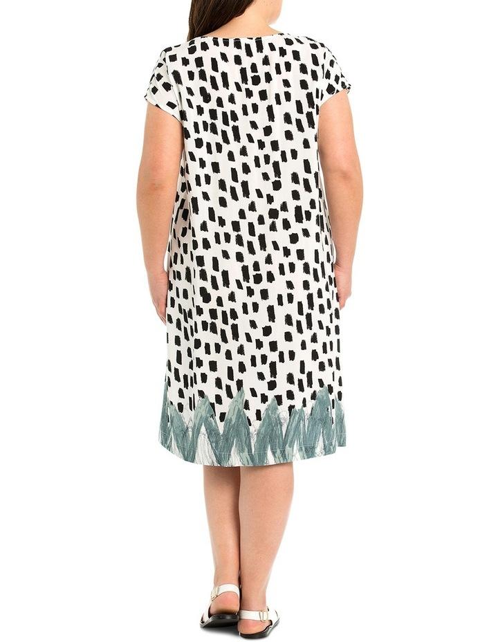 Brushstroke Print Dress image 2