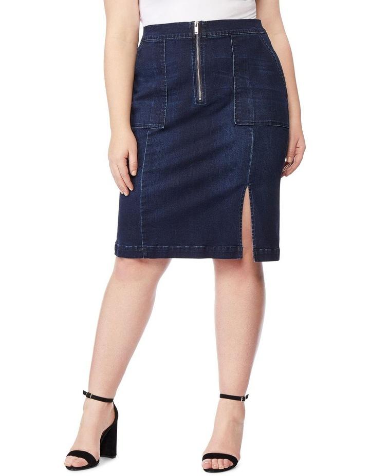 High Waisted Pencil Skirt image 1