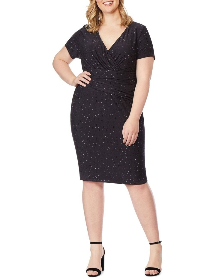 Fitted Dress With Surplice image 1
