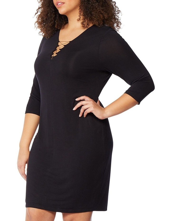 Fitted Dress With Front Lacing image 2