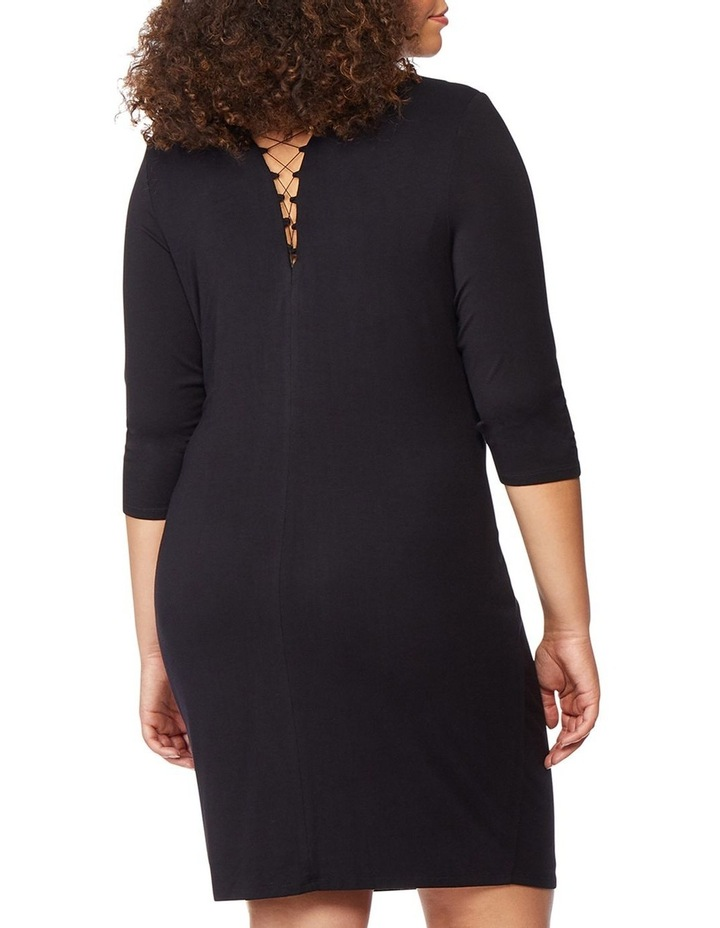Fitted Dress With Front Lacing image 3