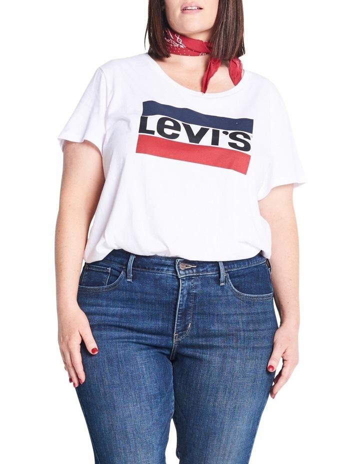 Plus Perfect Graphic Tee Sportswear Logo White image 4