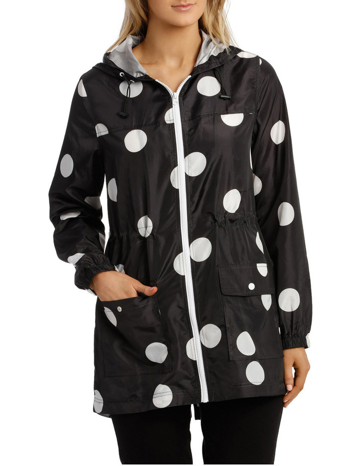Lightweight Long Sleeve Jacket Polka Print image 1
