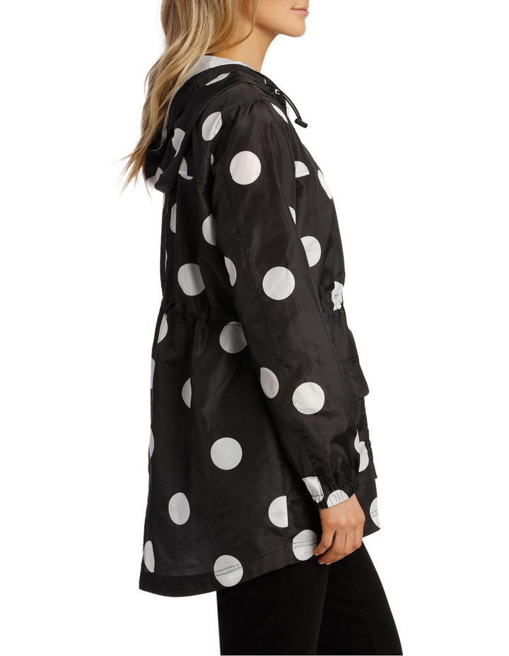 Lightweight Long Sleeve Jacket Polka Print image 2