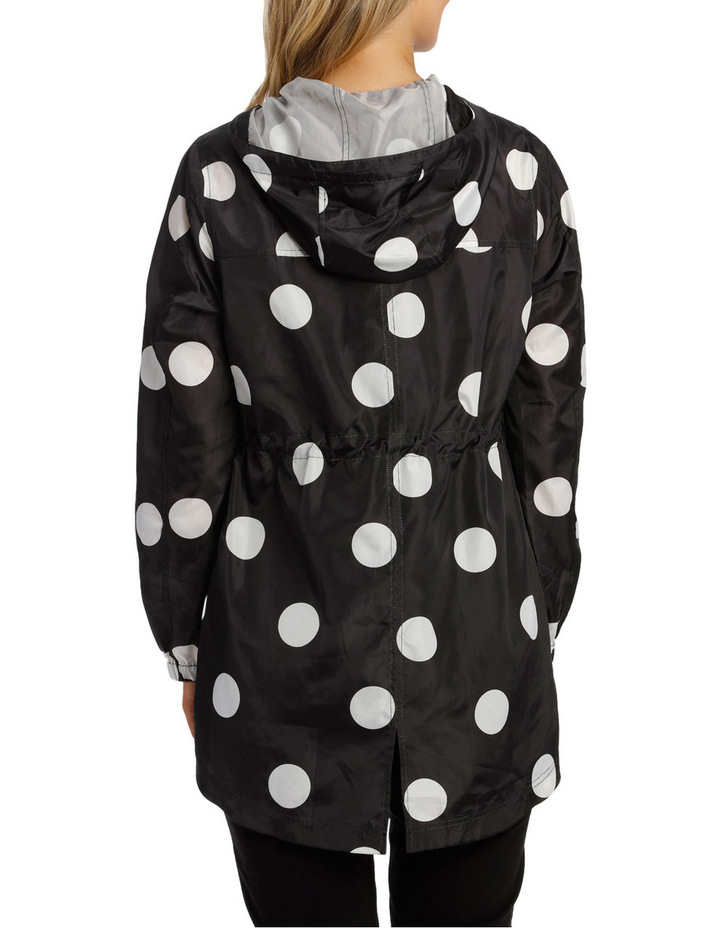 Lightweight Long Sleeve Jacket Polka Print image 3