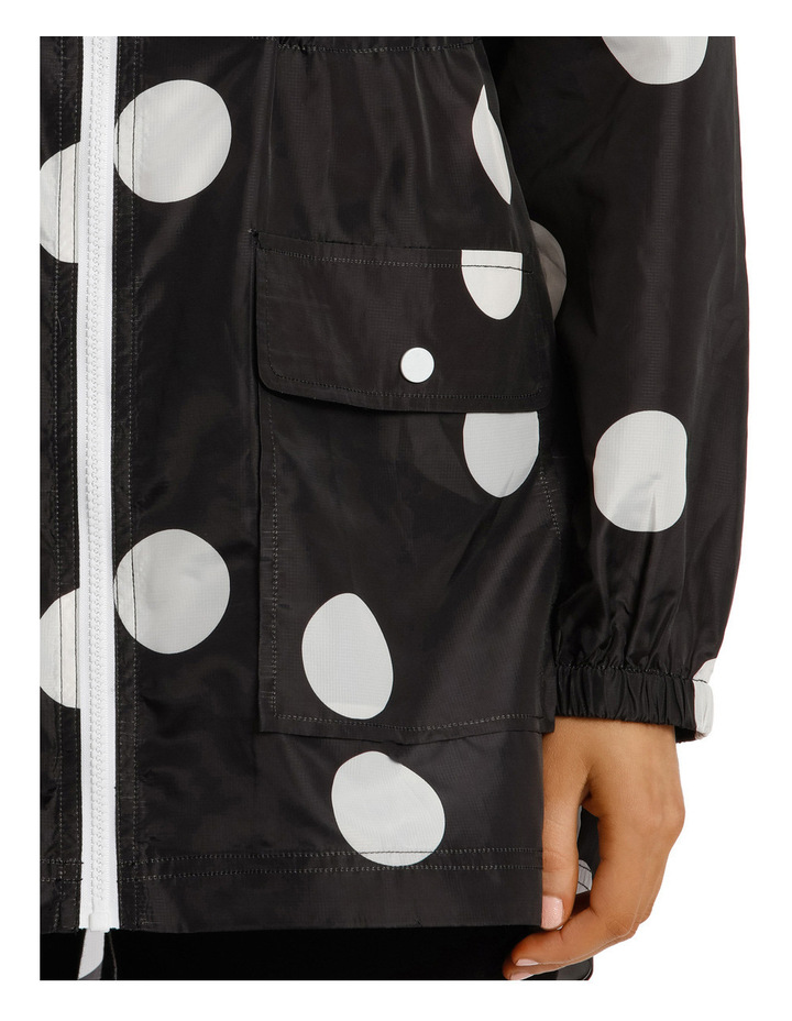 Lightweight Long Sleeve Jacket Polka Print image 4