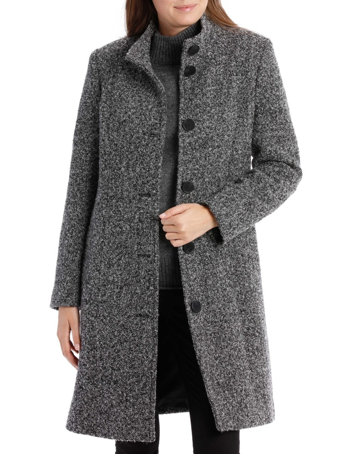Stand Collar Textured Coat image 2