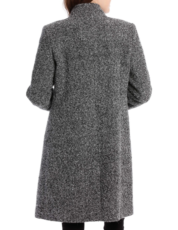 Stand Collar Textured Coat image 6