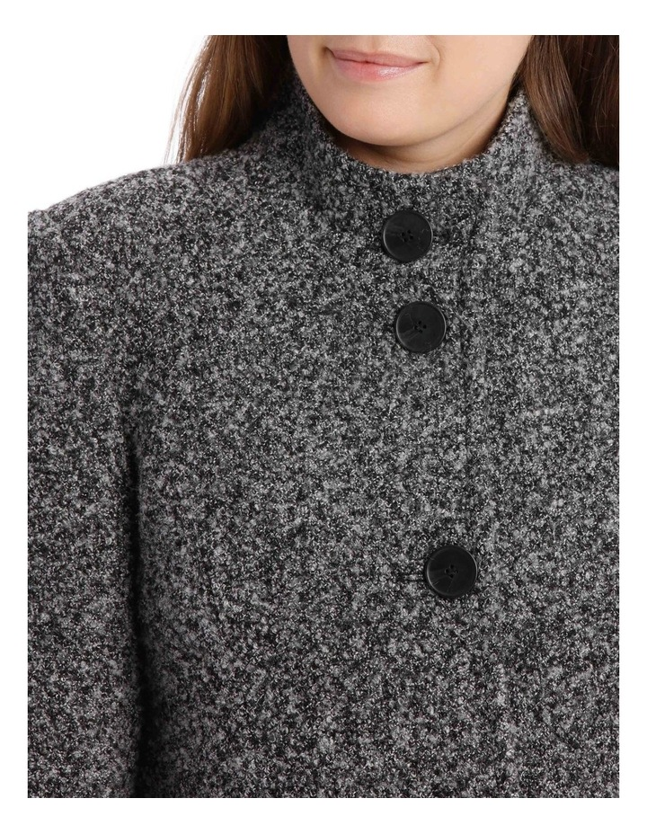 Stand Collar Textured Coat image 7
