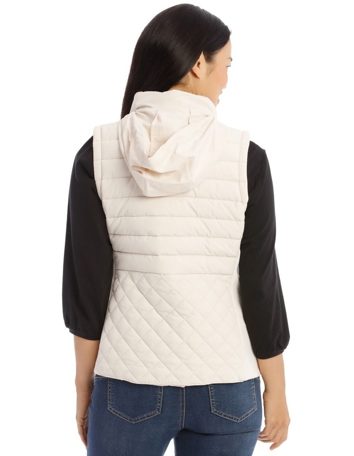 Quilted Rib Side Vest With Hood image 3
