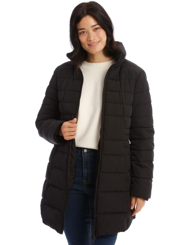 Long Line Straight Quilted Jacket image 1