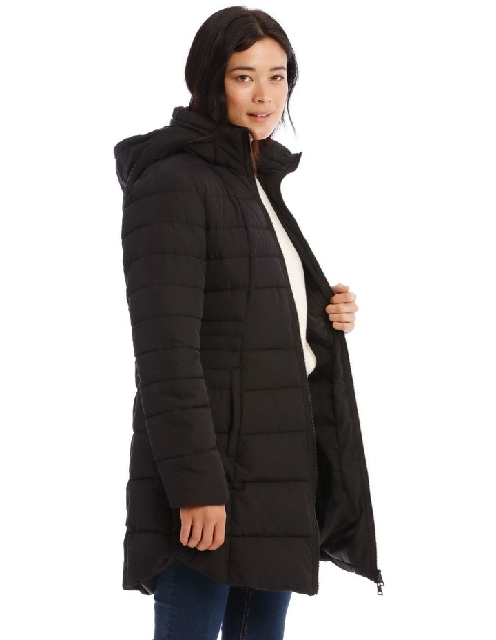 Long Line Straight Quilted Jacket image 2