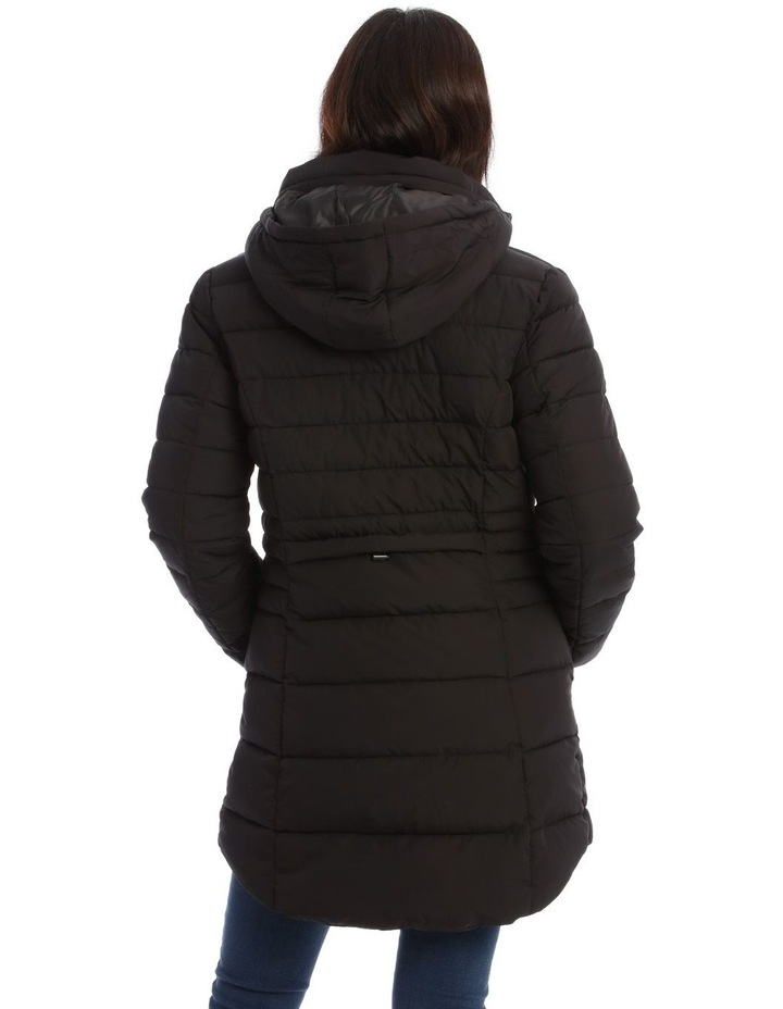 Long Line Straight Quilted Jacket image 3