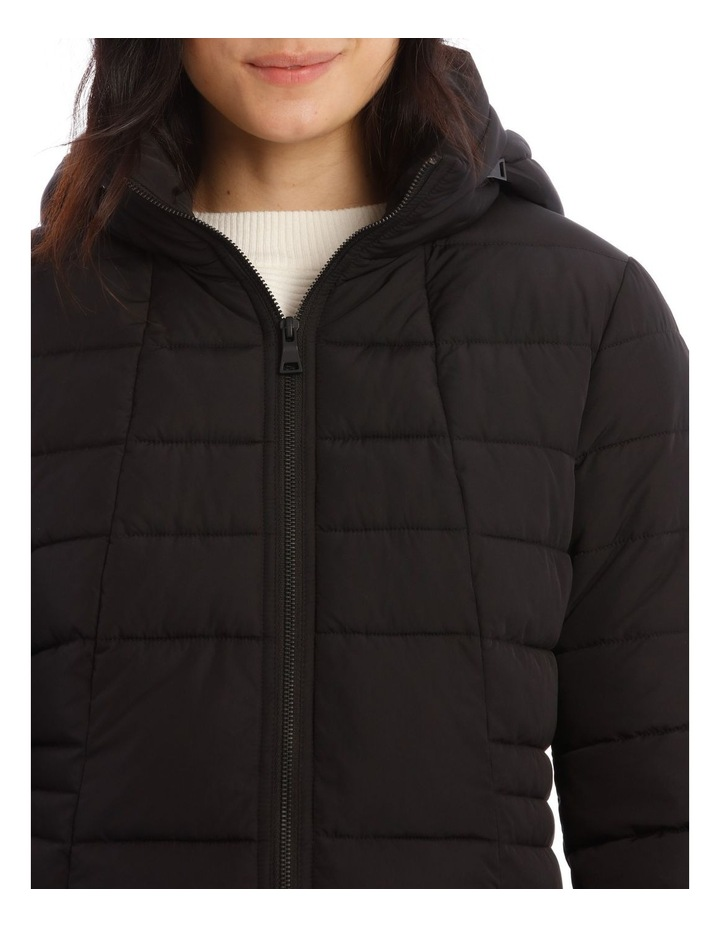 Long Line Straight Quilted Jacket image 4