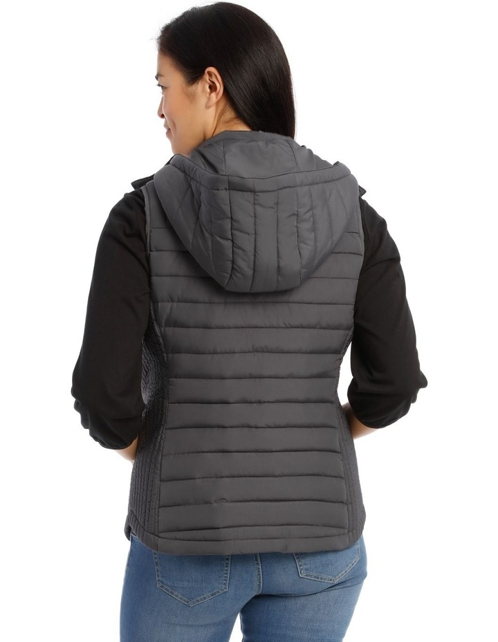 Kindled Straight Quilted Vest With Removable Hood image 3