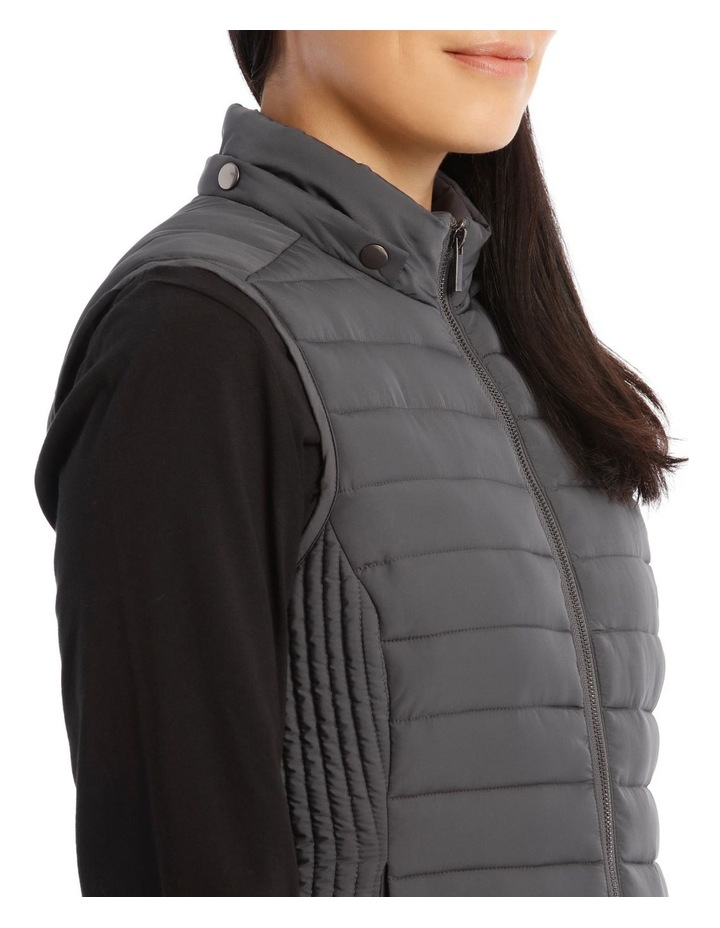 Kindled Straight Quilted Vest With Removable Hood image 5