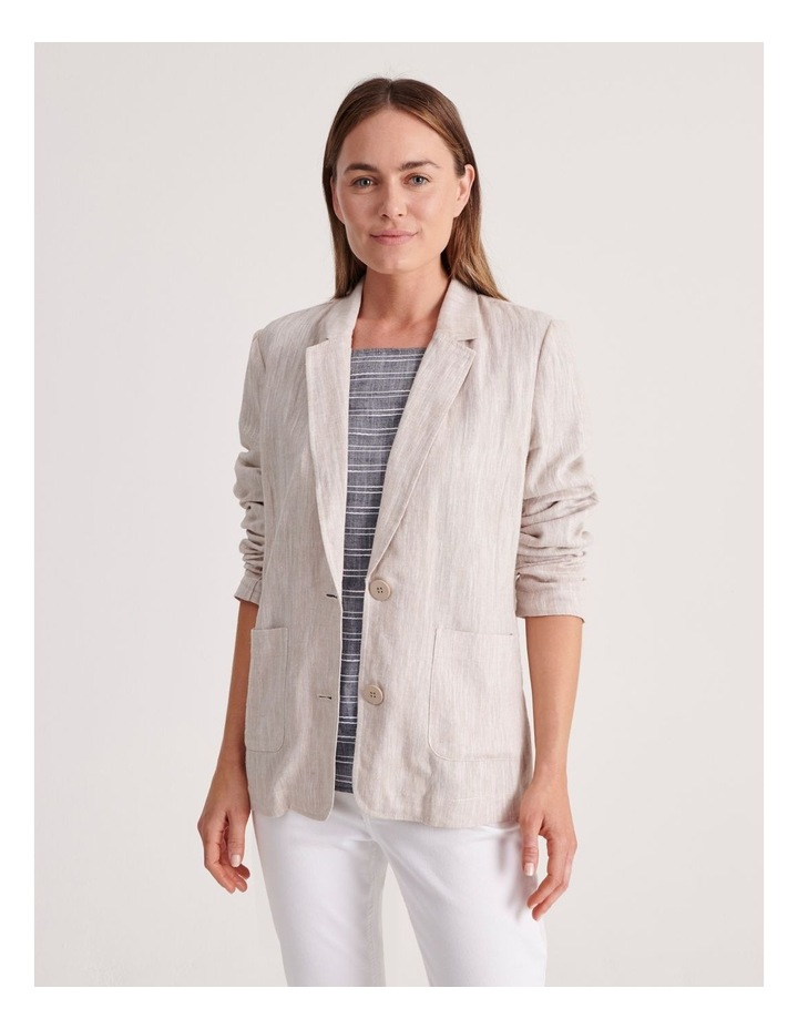Unlined Blazer with Two Buttons image 1