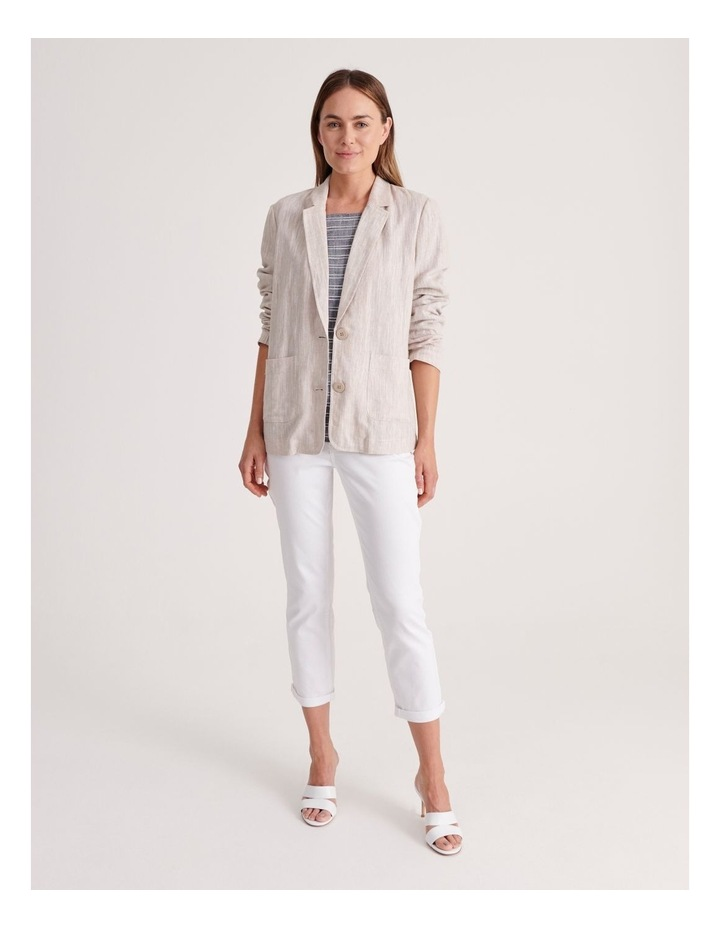 Unlined Blazer with Two Buttons image 2