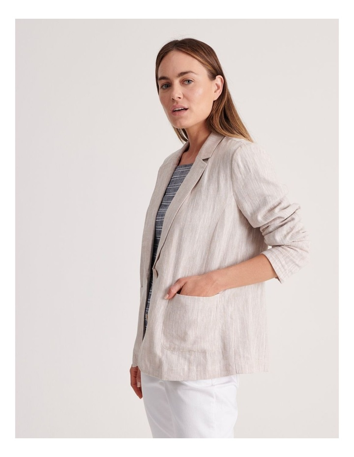 Unlined Blazer with Two Buttons image 3