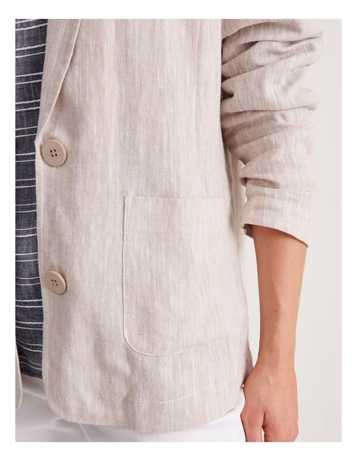 Unlined Blazer with Two Buttons image 5