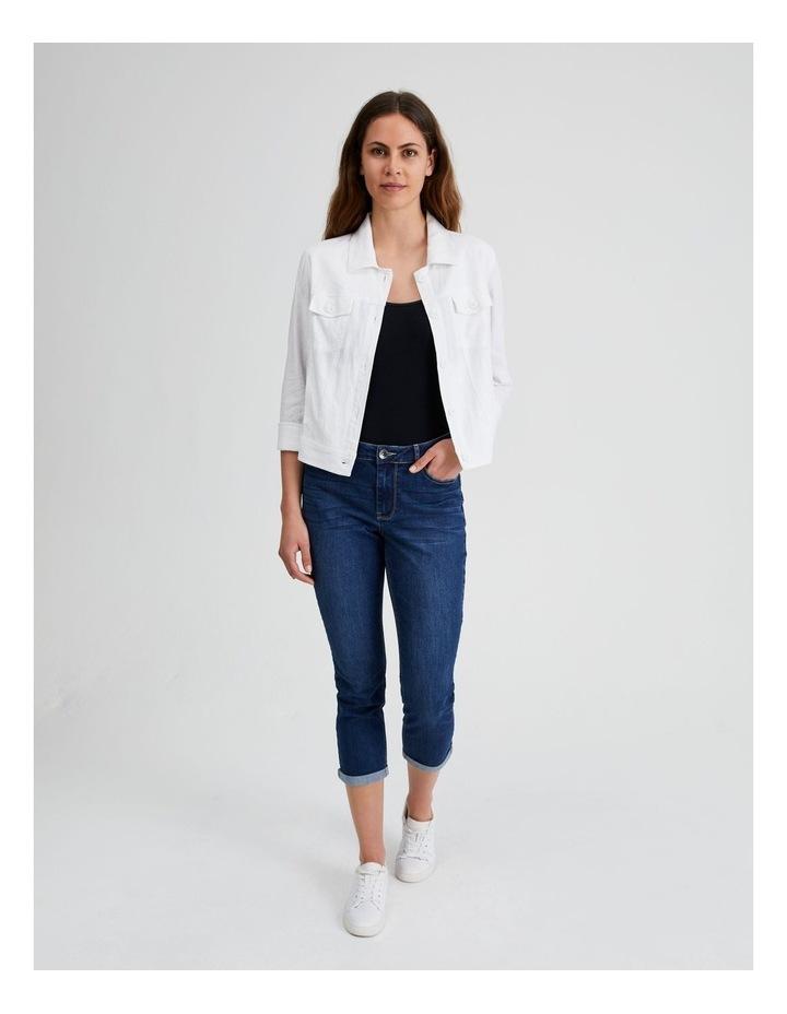 Linen Blend Jean Style Jacket image 4