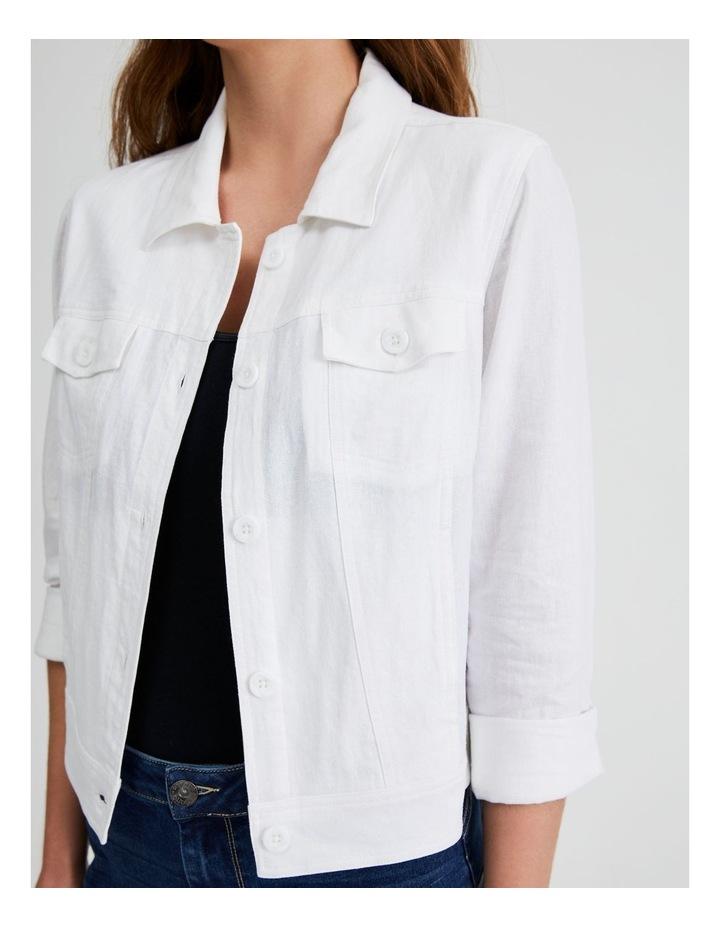 Linen Blend Jean Style Jacket image 5