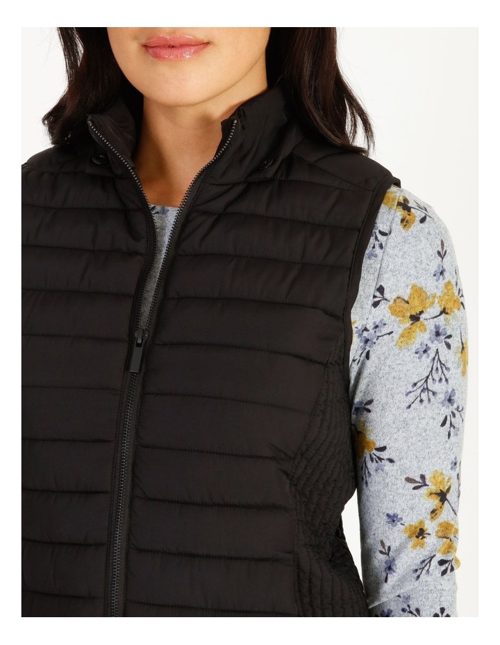 Straight Quilted Vest With Removable Hood image 5