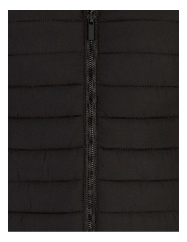 Straight Quilted Vest With Removable Hood image 6